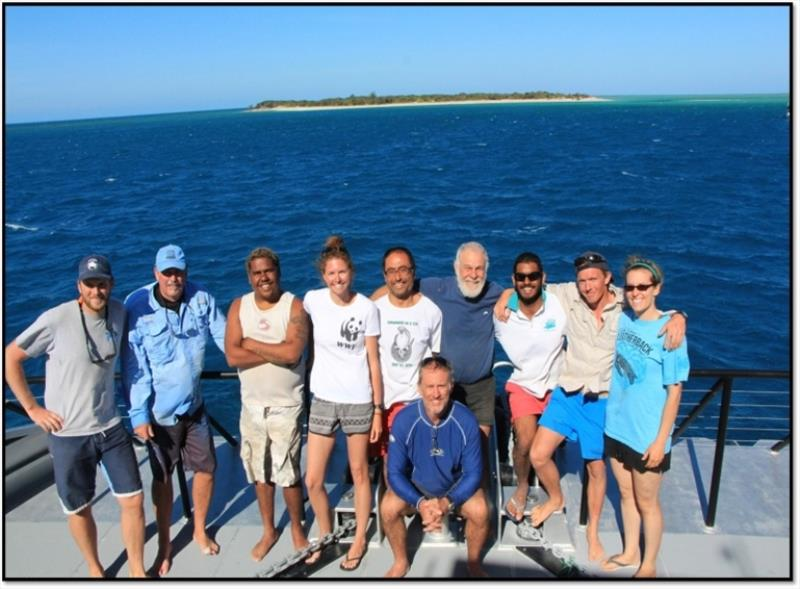 An international team of researchers from Southwest Fisheries Science Center, Queensland's Department of Environment and Heritage Protection and WWF-Australia joined forced on Australia's Great Barrier Reef to study green sea turtles - photo © NOAA Fisheries