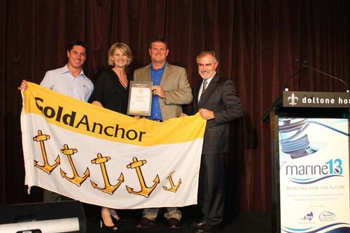 Royal Prince Alfred Yacht Club received a 4 Gold Anchor rating from the Marina Industries Association © Jeni Bone