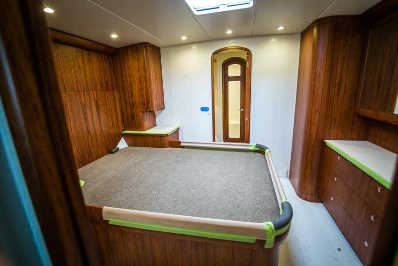 The master stateroom, ready for soft goods - photo © Bayliss Boatworks