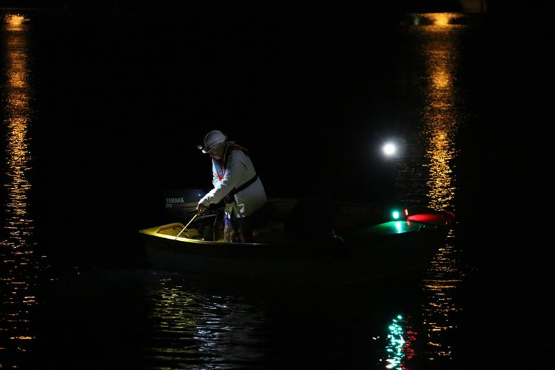 Boating with lights at night photo copyright Emily Rundle taken at  and featuring the Fishing boat class
