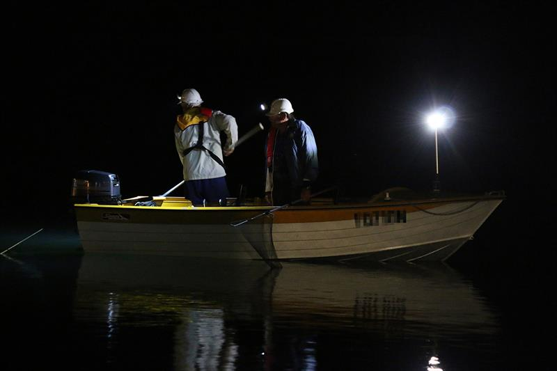 Boating with lights at night and lifejackets photo copyright Emily Rundle taken at  and featuring the Fishing boat class