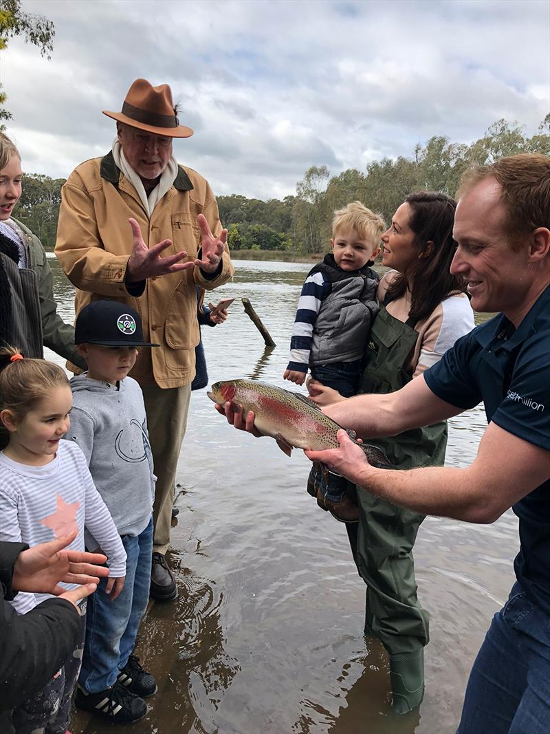 2018 Trout opening in Seymour photo copyright Fionna Deppeler taken at  and featuring the Fishing boat class