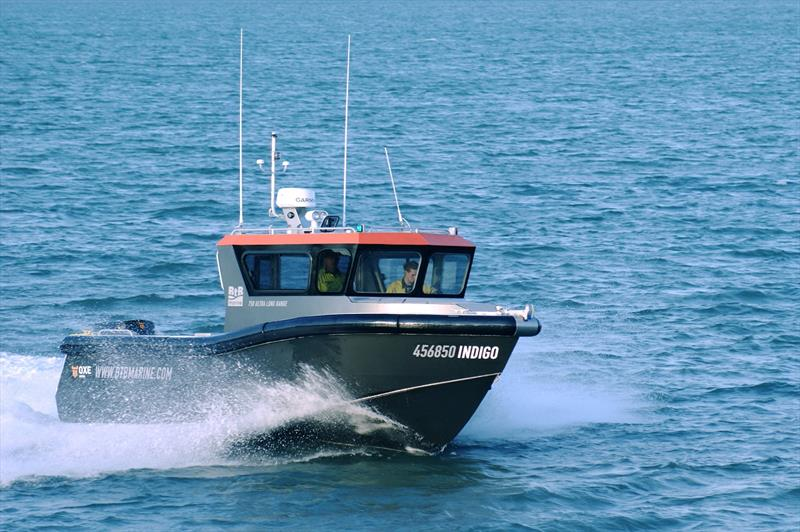 BtB Marine's Indigo 750ULR, OXE Diesel powered, ultra-long-range commercial workboat in action. photo copyright Power Equipment  taken at  and featuring the Fishing boat class