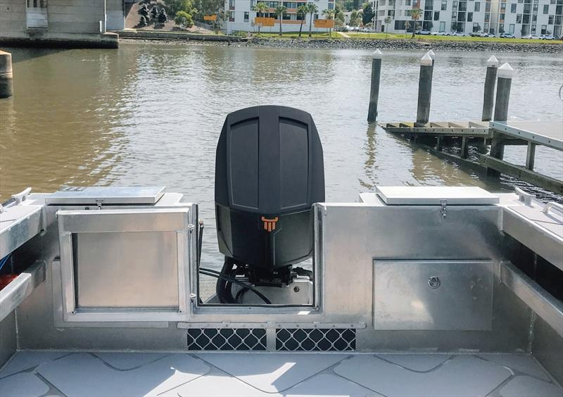 Transom designed to accommodate a heavier diesel outboard engine in-line with the overall commercial focus of the 750ULR - photo © Power Equipment