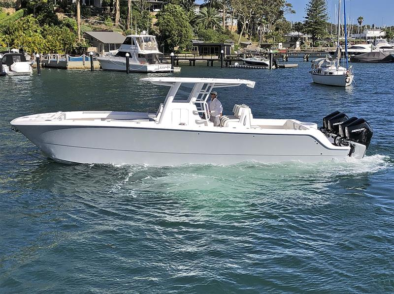 Terrific utility - Invincible 35 Powercat photo copyright Boat Monster taken at  and featuring the Fishing boat class