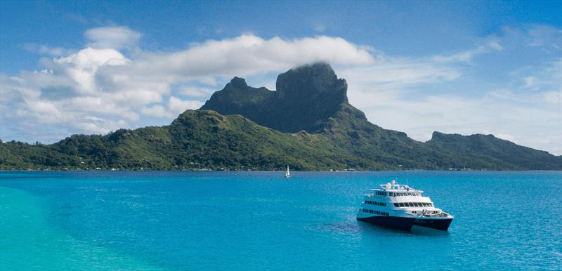 Tahiti welcomes visitors. photo copyright Tahiti Tourism. taken at  and featuring the  class