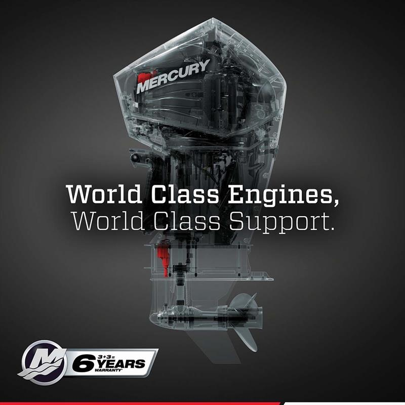 Mercury's new comprehensive Six Year Warranty - photo © Mercury Marine