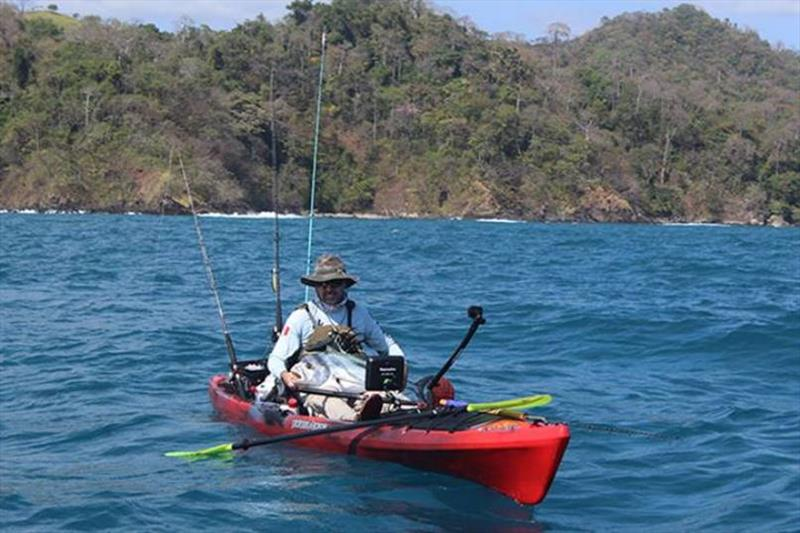 James McBeath used a Raymarine Dragonfly to locate and catch over 70 pounds of fish on the final day of competition to win the recent Los Buzos World Kayak Fishing Championships in Cambutal, Panama. photo copyright Raymarine taken at