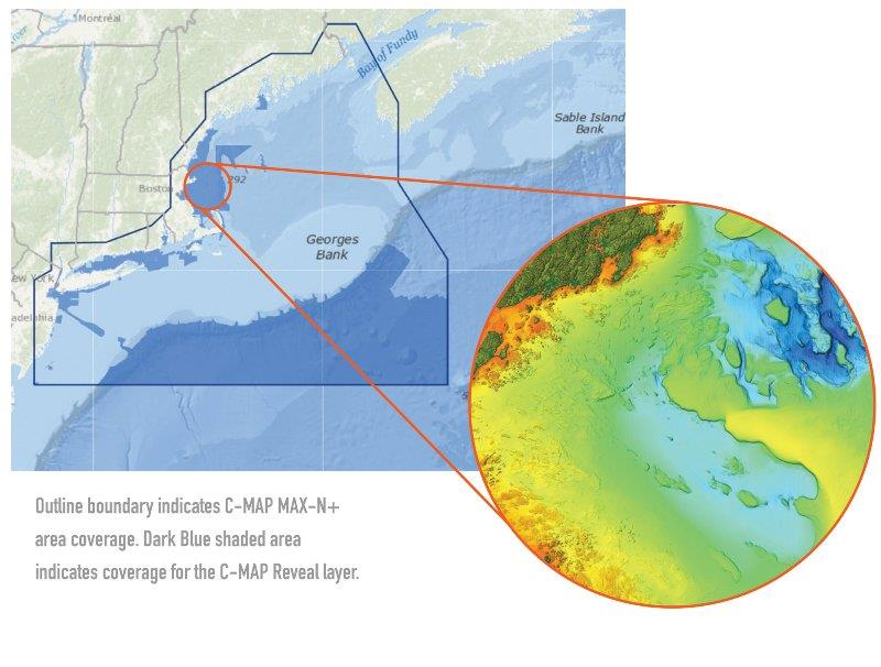 C-MAP announces new reveal charts for US East Coast