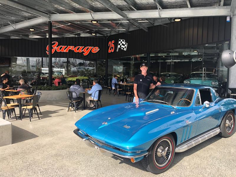 Tony Longhurst out the front of Garage 25, which is where you'll find the cafe, Espresso Twenty5 in the Southern section of The Boat Works. - photo © The Boat Works