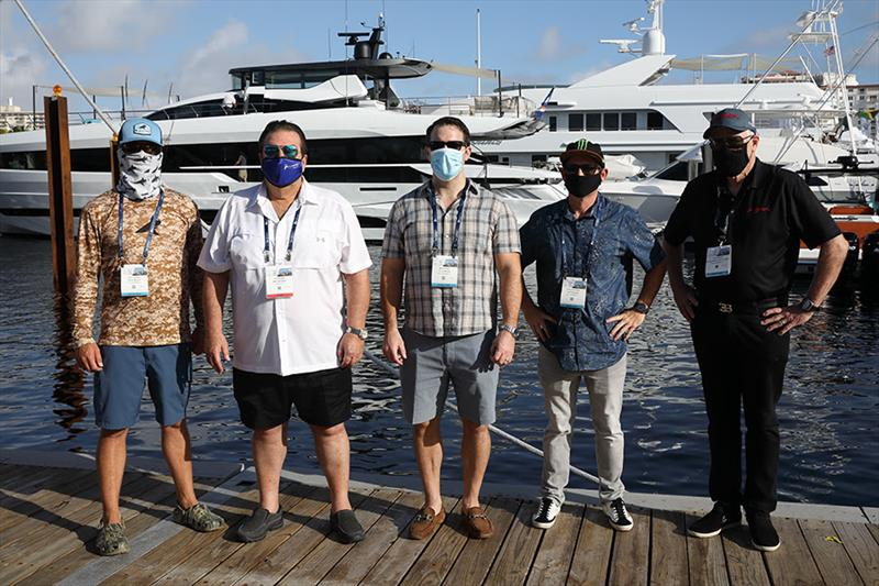 FLIBS 'Best of Show' Judges - Josh Jorgensen, John Staluppi, Matt Caldwell, Ricky Carmichael, Craig Jackson - photo © Fort Lauderdale International Boat Show