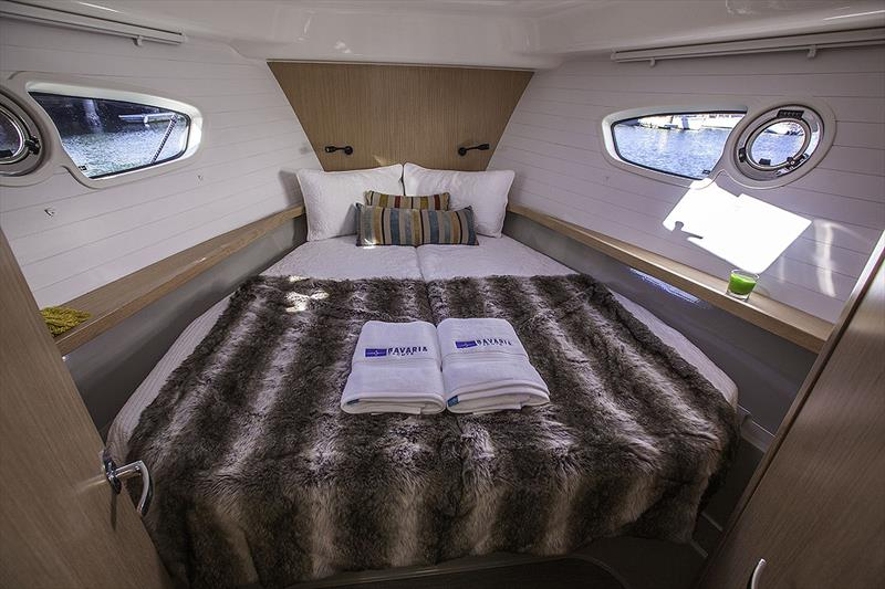 For'ard VIP Stateroom of Bavaria's E34 - photo © John Curnow