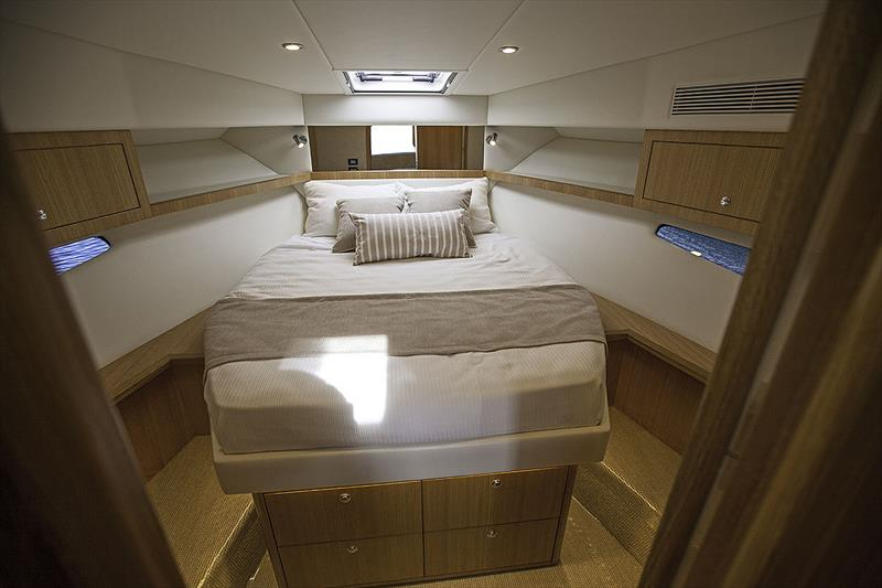Master Stateroom is for'ard in Riviera's 395 SUV. - photo © John Curnow