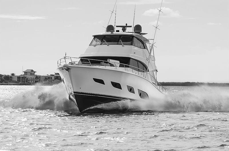 Ultra distinctive - you will know one of Riviera's 68/72 Sports Motor Yachts when you see one! - photo © John Curnow