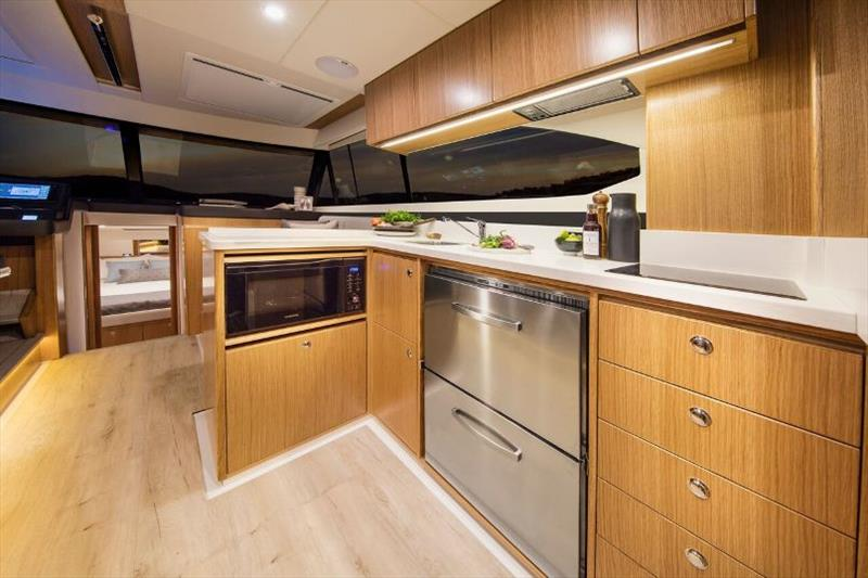 Riviera 395 SUV Galley - photo © Riviera Australia