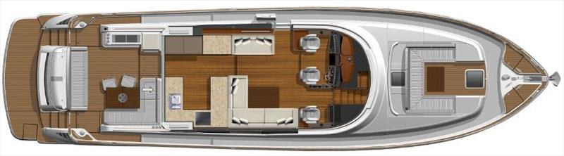 General layout of the new Belize 66 - photo © Riviera Australia