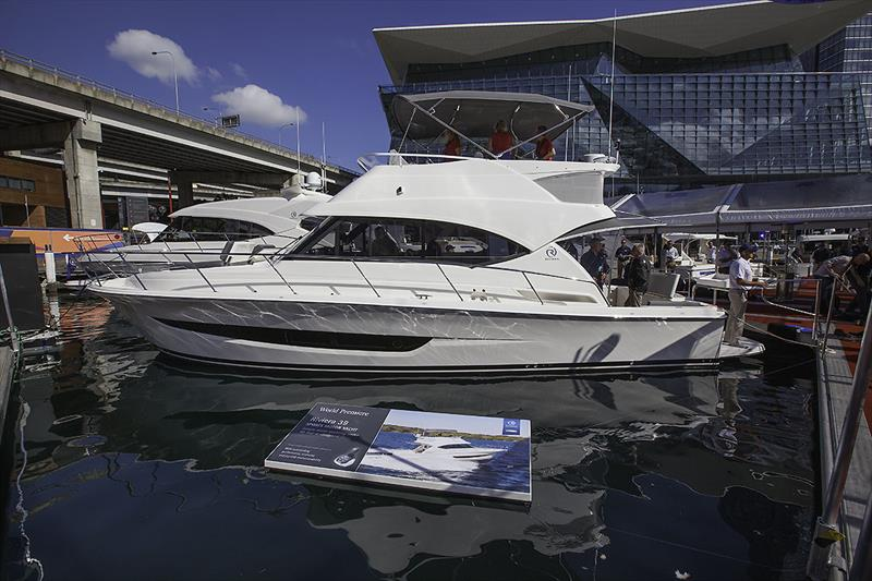 Riviera's 39 Sport Motor Yacht had her World Premiere at the Sydney International Boat Show - photo © John Curnow