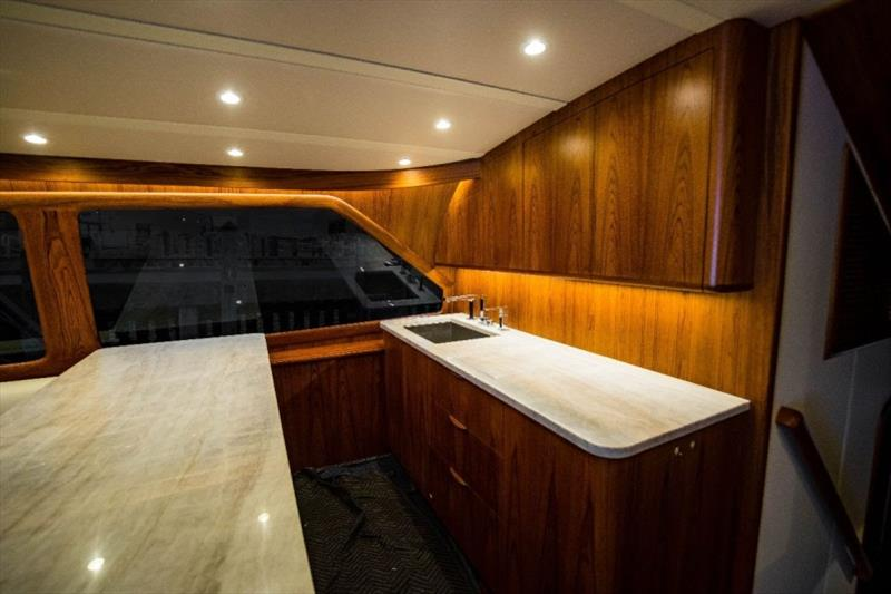 Sneak peeks of the galley on GameChanger - photo © Bayliss Boatworks