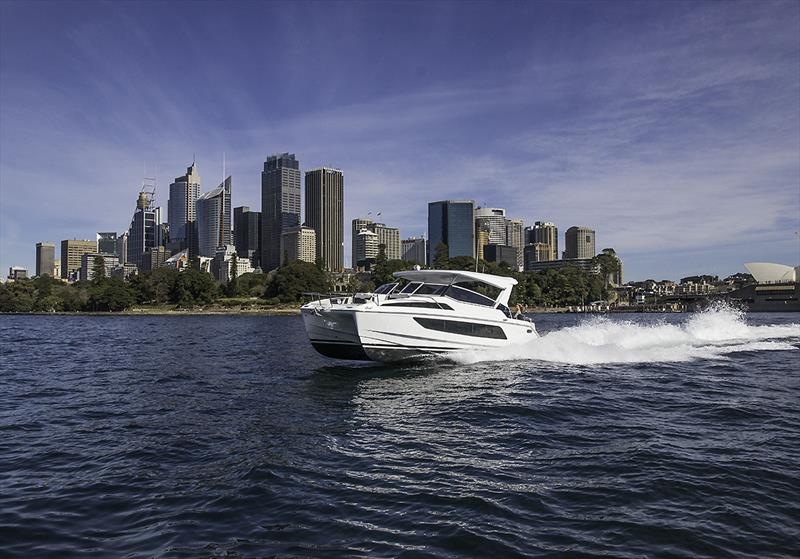 Aquila 36 Flying along Sydney Harbour - photo © John Curnow