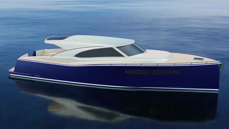 New Composites Constructions 48-footer - sleek, purposeful, and able to handle rough water  - photo © Composites Constructions
