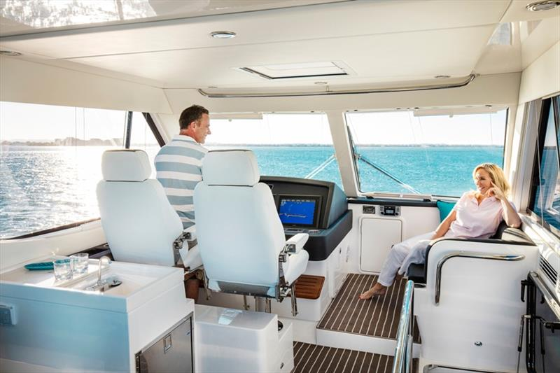 Riviera 52 Enclosed Flybridge lifestyle - photo © Riviera Australia