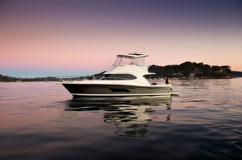 Riviera 43 Open Flybridge anchored - photo © Riviera Australia