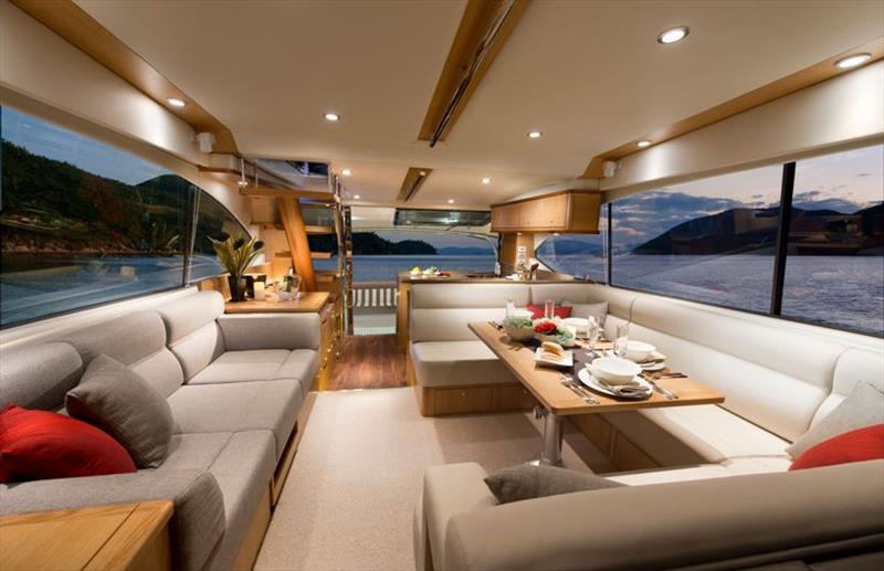 Riviera 52 Enclosed Flybridge saloon - photo © Riviera Australia