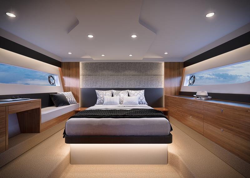 Maritimo X50 Master Cabin - photo © Paul Wilson