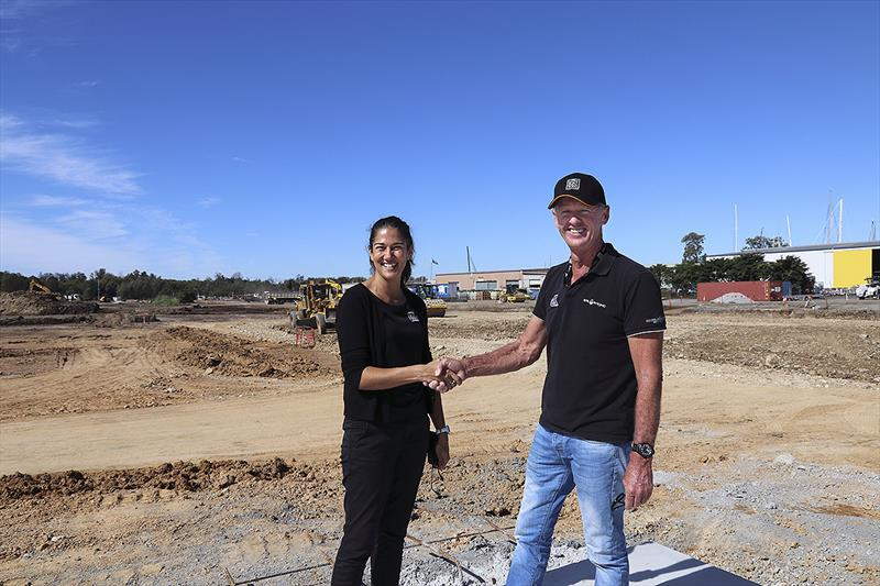 Charmaine Webb and Tony Longhurst on site at The Boat Works new super yacht facility photo copyright John Curnow taken at  and featuring the Power boat class