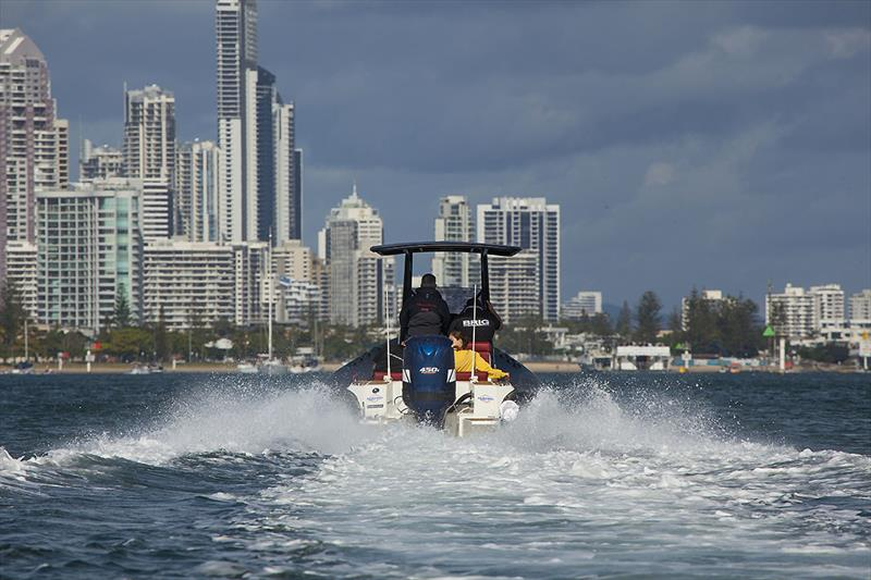 Awesome fun as an all round day boat - Brig 8m Eagle and Nizpro marine 450S. - photo © John Curnow