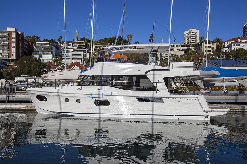 Hull #4 of the new Beneteau Swift Trawler 47 has just arrived in Australia for her premiere at the Sydney International Boat Show - photo © John Curnow