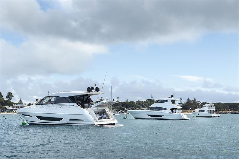 X and M craft at Rottnest Island off Perth, Western Australia, show just how suited they are to entertaining. - photo © Darren Gill