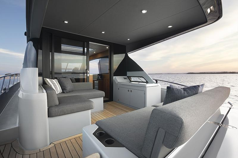 Out aft on Maritimo's very new X50R - photo © Maritimo