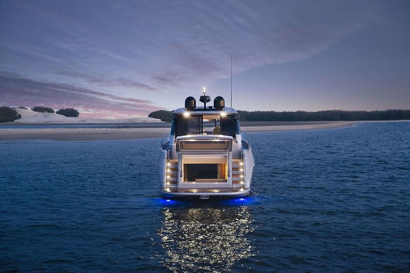 Maritimo's very new X50R - this one has the convertible Beach Club - photo © Maritimo
