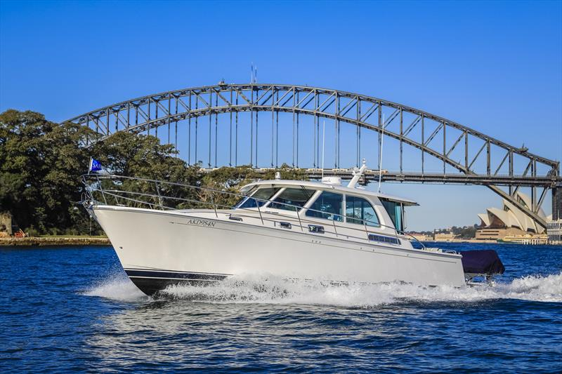 Sabre Yachts 45 photo copyright E Marine Motor Yachts taken at  and featuring the Power boat class