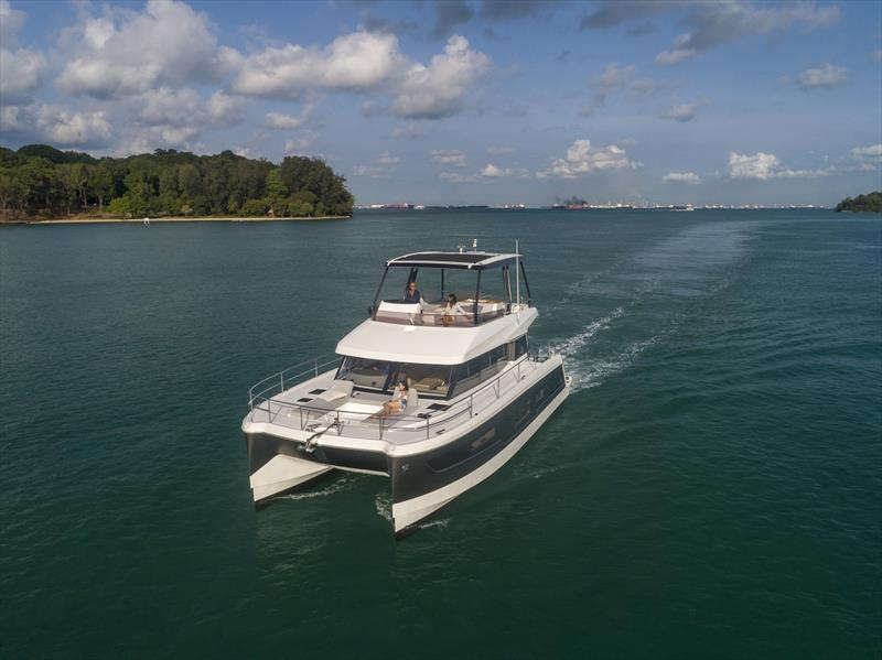 The new model MY 40 by Fountaine Pajot Motor Yachts will be on show at the special Multihull Solutions Open-For-Inspection event in Auckland. - photo © Kate Elkington