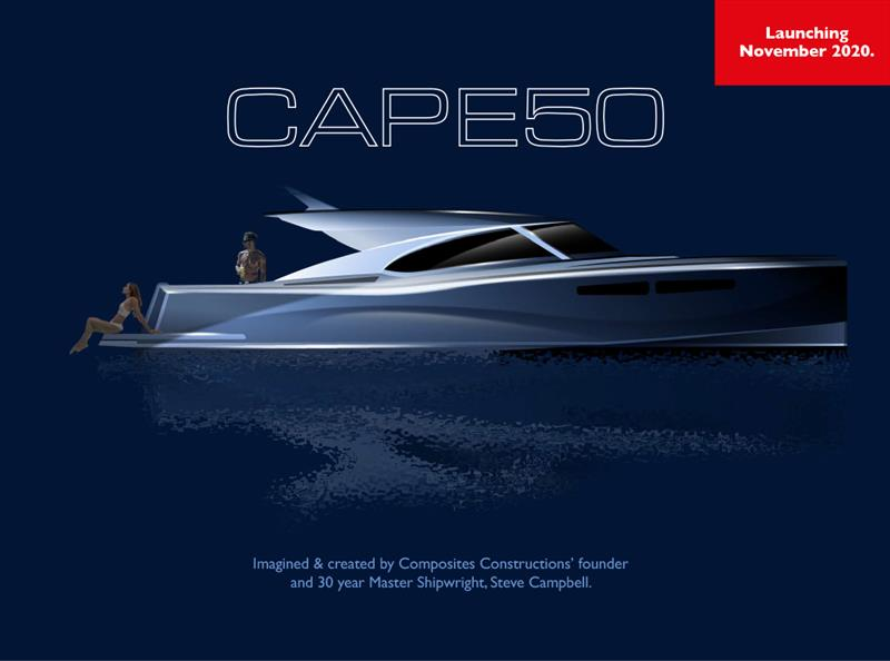 The new Cape50 Motor Yacht will be christened this November - photo © Cape Motor Yachts