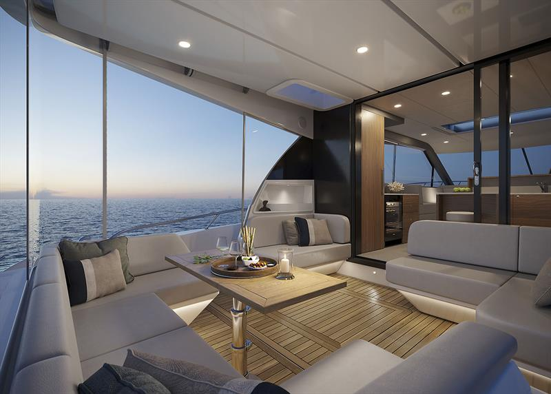 World Premiere of the new Maritimo S55 - photo © Maritimo