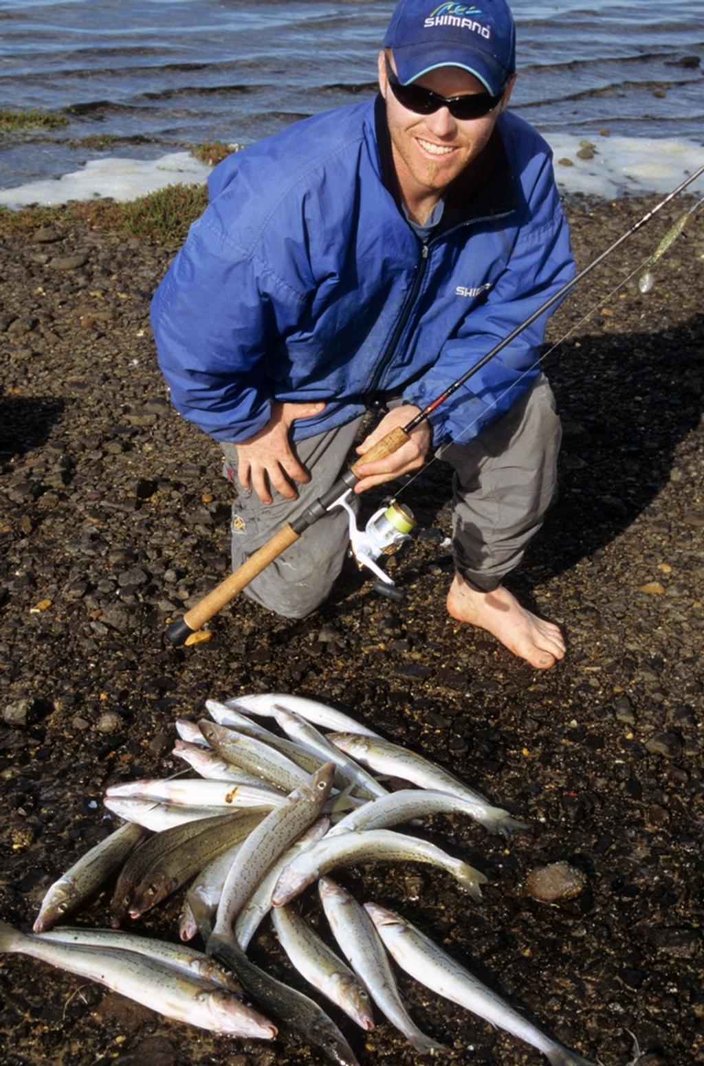 The author with a haul of fish caught from close-in grounds. Great fun and top tucker! © Shane Murton