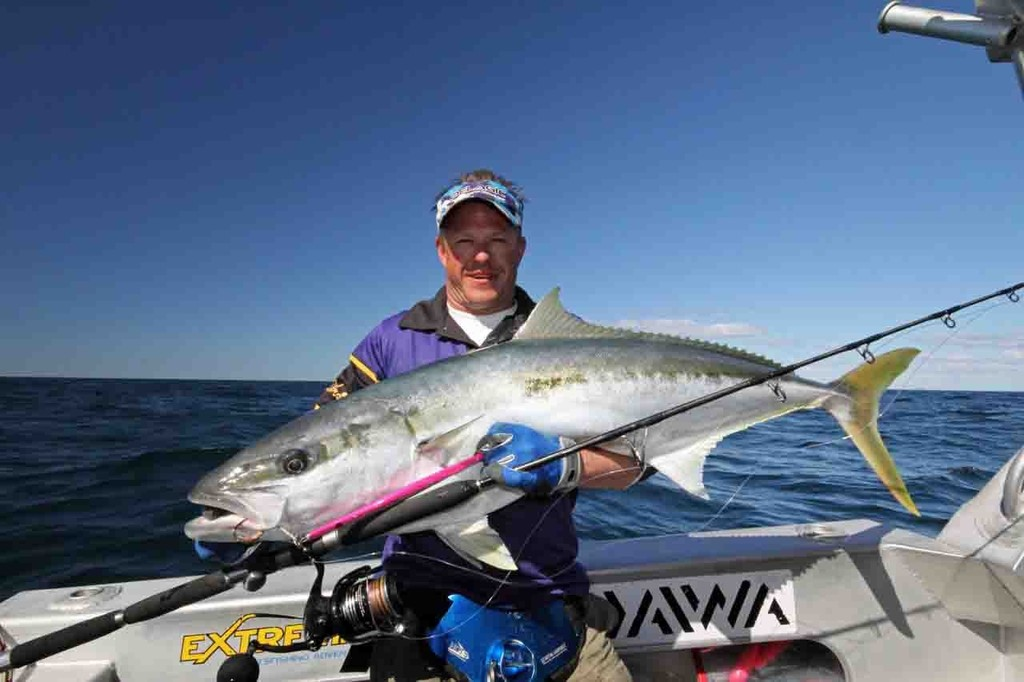 The author displays a solid kingfish caught from the depths. © Jarrod Day