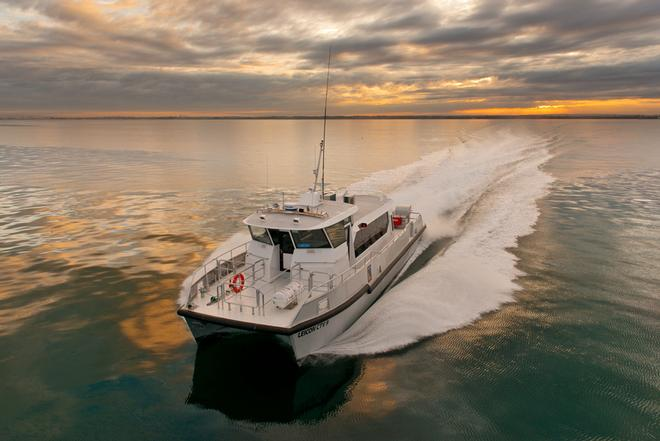 Evolution CTV at 32 knots - New Crew Transfer Vessel launched by Evolution Commercial © Mark Stothard