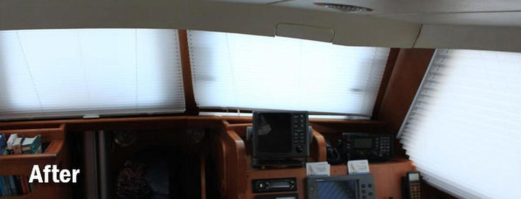 Savaras, wheelhouse interior - after being fitted by Oceanair © SW