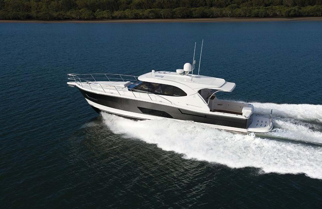 The Riviera 445 SUV shares the proven sea-kindly hull of the Flybridge collection - photo © Riviera Australia