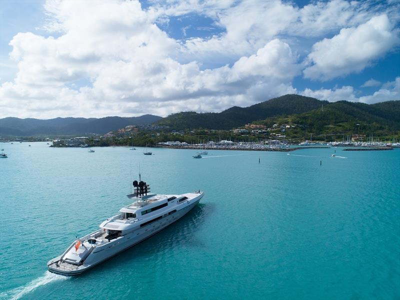 Superyacht making its way to Coral Sea Marina Resort photo copyright Australian Superyacht Rendezvous taken at  and featuring the Superyacht class